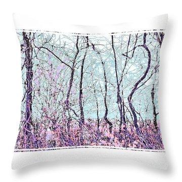 Strange Trees Throw Pillow