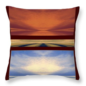 Strange Views Throw Pillow