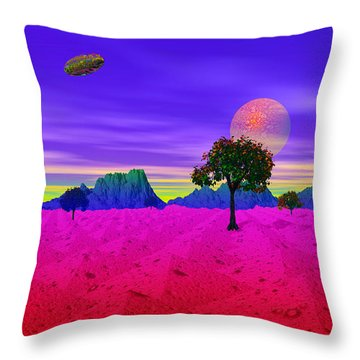 Strangely Place Throw Pillow