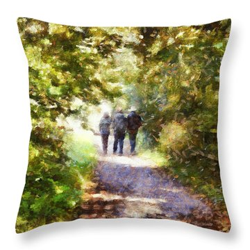 Strangers On A Footpath / In To The Light Throw Pillow