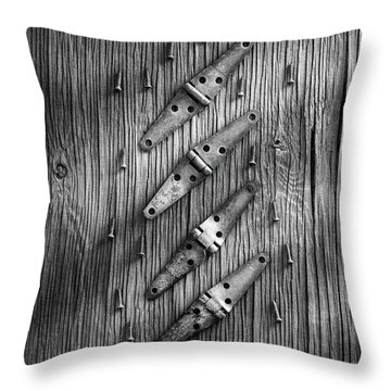 Strap Hinges And Screw Again Throw Pillow