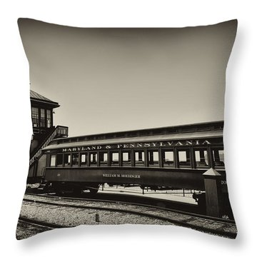 Strasburg Rail Road Throw Pillow by Bill Cannon