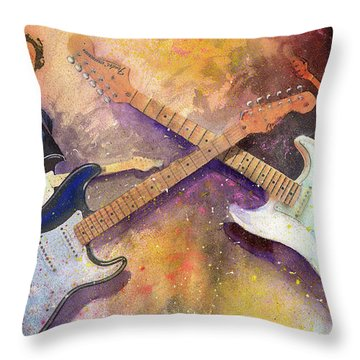 Strat Brothers Throw Pillow