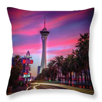 Strat Sunset Throw Pillow