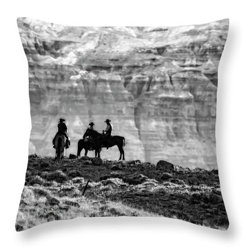 Strategy Meeting In Black And White Throw Pillow