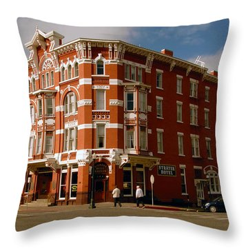 Strater Hotel 1887 Throw Pillow by David Lee Thompson