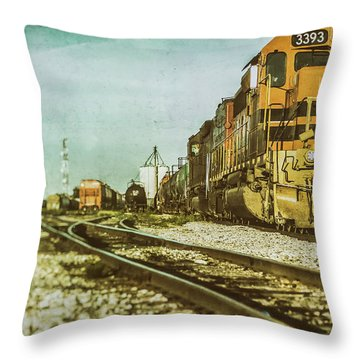 Stratford Rail Yard 2016 Throw Pillow