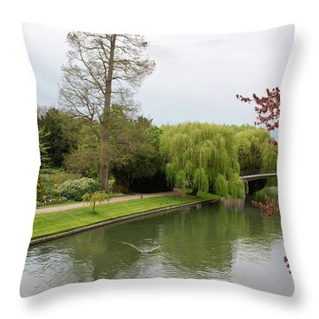 Stratford Upon Avon 1 Throw Pillow by Douglas Barnett