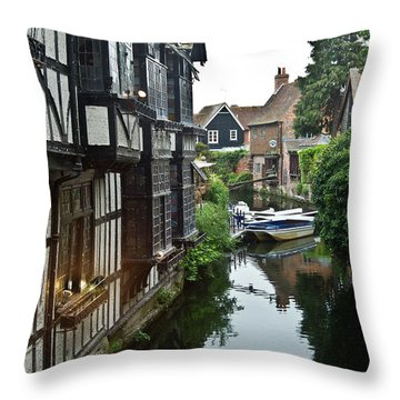 Stratford Upon Avon 7 Throw Pillow by Douglas Barnett