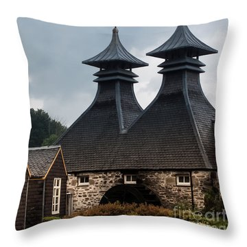 Throw Pillow featuring the photograph Strathisla Whisky Distillery Scotland #2 by Jan Bickerton