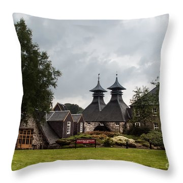 Throw Pillow featuring the photograph Strathisla Whisky Distillery Scotland #3 by Jan Bickerton