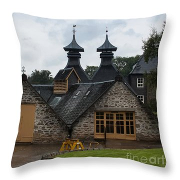 Throw Pillow featuring the photograph Strathisla Whisky Distillery Scotland #4 by Jan Bickerton