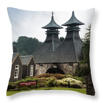 Strathisla Whisky Distillery Scotland Throw Pillow