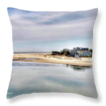 Strathmere Throw Pillow by John Loreaux