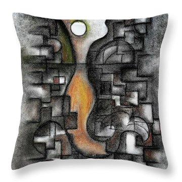 Stratified Breeze Throw Pillow