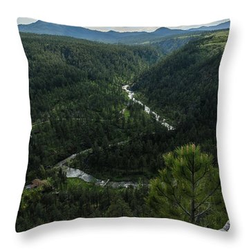Stratobowl Overlook On Spring Creek Throw Pillow
