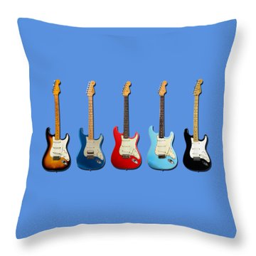 Stratocaster Throw Pillow by Mark Rogan