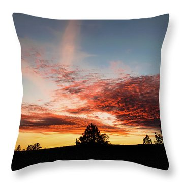 Stratocumulus Sunset Throw Pillow