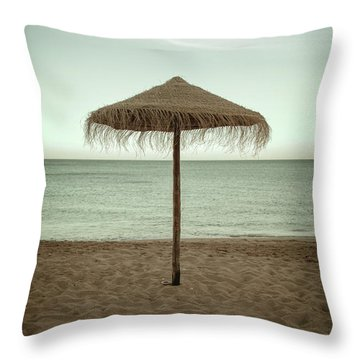 Throw Pillow featuring the photograph Straw Shader by Carlos Caetano