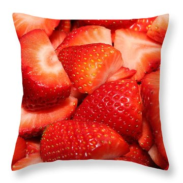 Strawberries 32 Throw Pillow