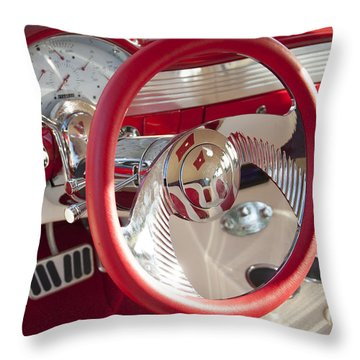 Strawberries And Creme Throw Pillow