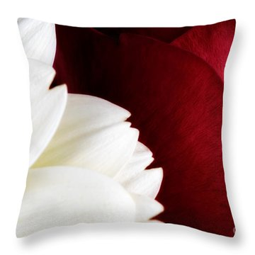 Strawberry And Cream Throw Pillow by Mark Johnson