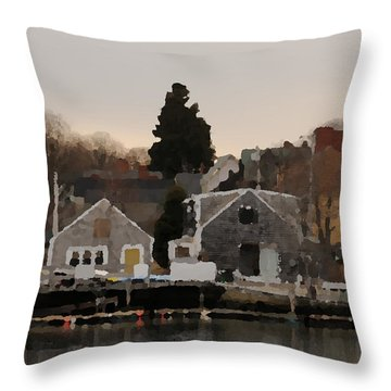 Strawberry Banke Throw Pillow by Mike Martin