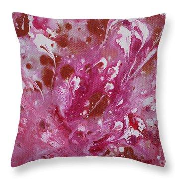 Strawberry Cream Throw Pillow