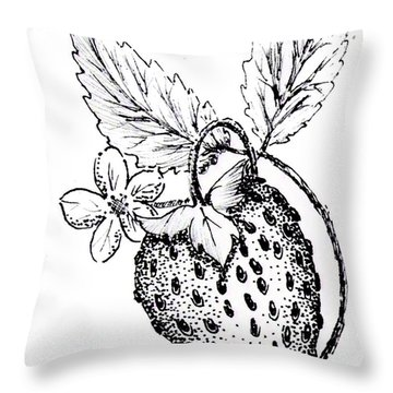 Strawberry Dreams Throw Pillow