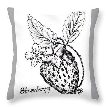Strawberry Dreams Throw Pillow
