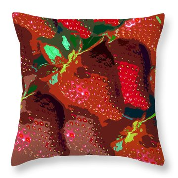 Strawberry Fields Forever Throw Pillow by David Lee Thompson