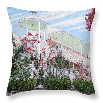Strawberry House Throw Pillow
