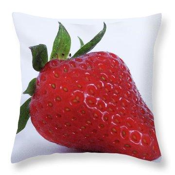 Strawberry Throw Pillow by Julia Wilcox