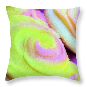 Strawberry Lemonade Cookies Throw Pillow