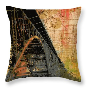 Strawberry Mansion Bridge Philadelphia Pa Throw Pillow