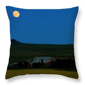 Strawberry Moon Throw Pillow