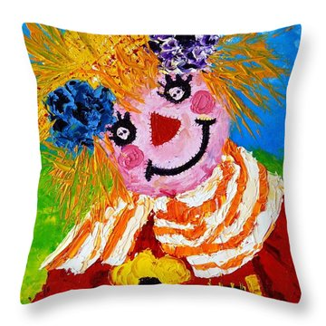 Strawberry Sally Scarecrow Throw Pillow