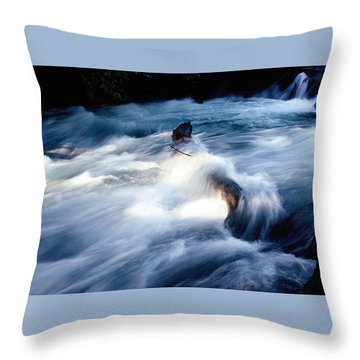 Throw Pillow featuring the photograph Stream 2 by Dubi Roman