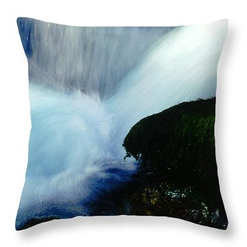 Throw Pillow featuring the photograph Stream 5 by Dubi Roman