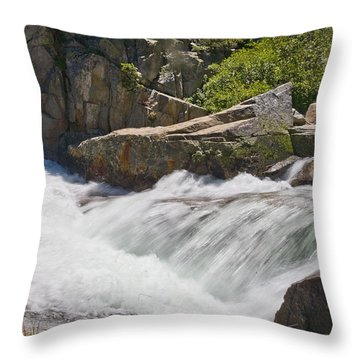Throw Pillow featuring the photograph Stream In Yosemite National Park by Matthew Bamberg