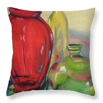 Stream Of Colour Throw Pillow