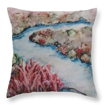Stream Of Dreams Throw Pillow