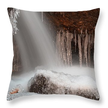 Stream Of Frozen Hope 2 Throw Pillow