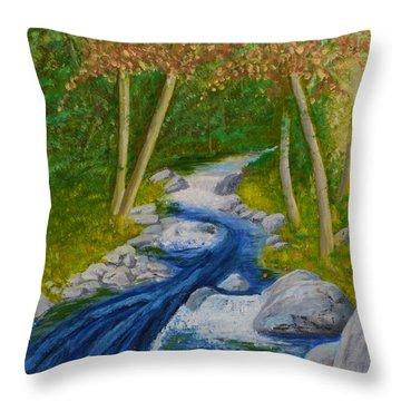 Stream Two Throw Pillow