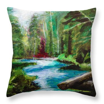 Streaming Brook Throw Pillow