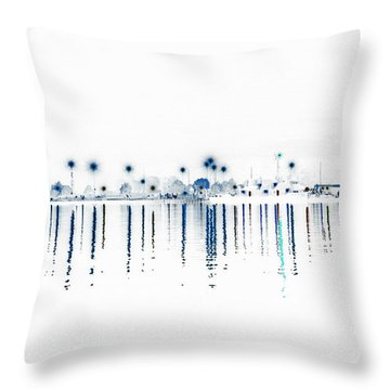 Streaming Lights Throw Pillow