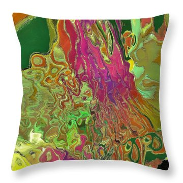 Streaming Saree Throw Pillow