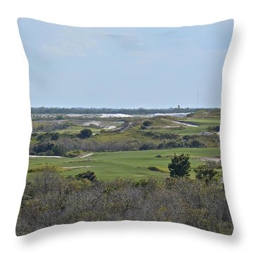 Streamsong Golf Course Throw Pillow by Carol  Bradley