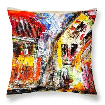 Street 3970 Throw Pillow