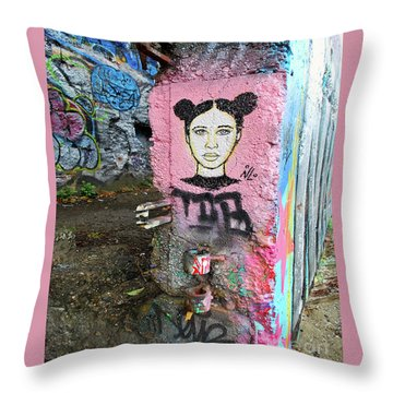 Throw Pillow featuring the photograph Street Art by Bill Thomson
